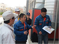 力维定期为客户讲授滤筒除尘器维护技巧