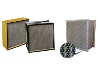 方框式带隔板高效过滤器